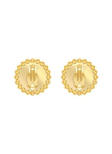 Swarovski Swarovski 5464120 Lucky Goddess Clip  Beyaz Altın Kaplama Küpe Renkli
